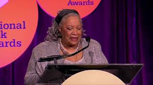 Toni Morrison presenting National Book Award to Maya Angelou