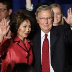 Chao and McConnell after winning the primary May 21