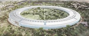 This illustration is not from the book -- it's Apple's proposed new campus in Cupertino, Calif.