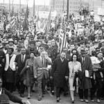 Number of protestors swell from 600 to 25,000 on the third Selma march