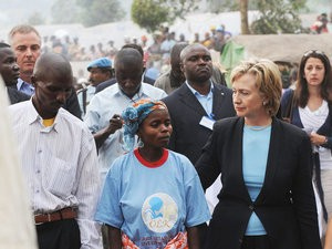 Hillary Clinton in Goma, Democratic Republic of Congo