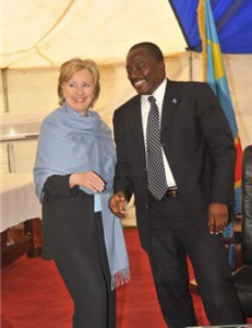 With Joseph Kabila