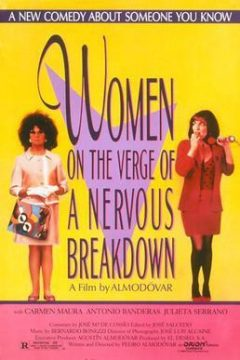 Poster for the 1988 movie, Women on the Verge of a Nervous Breakdown""
